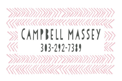 Petite Chevron Custom Name Label