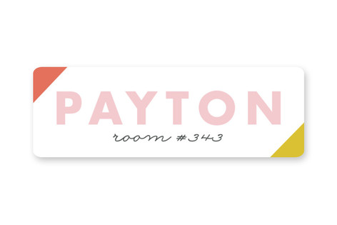 Rainbow Custom Name Label