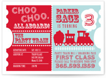Choo Choo Train Children's Birthday Party Postcards