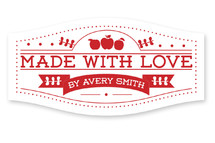 Made With Love Jar Label