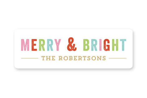 Merry Bright Custom Stickers