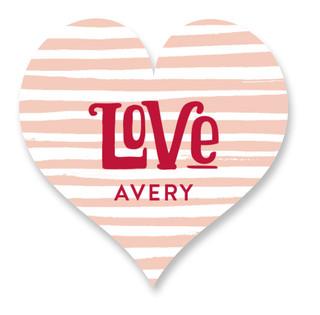 Valentine Typography Custom Stickers