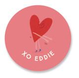 Valentine Floss Boss Custom Stickers