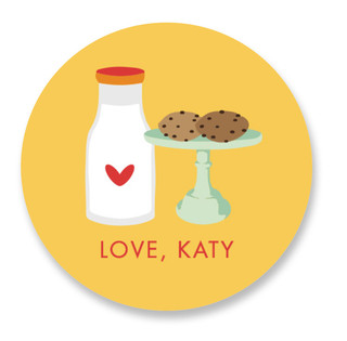 Milk & Cookies Custom Stickers