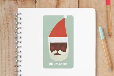 Multi-Cultural Santas Custom Stickers