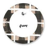 Painted Plaid Custom Stickers