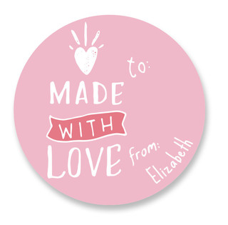 From the Heart Custom Stickers
