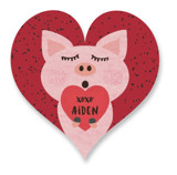 Hogs and Kisses Custom Stickers