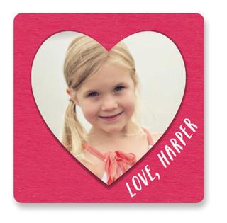 Layered Paper Heart Custom Stickers