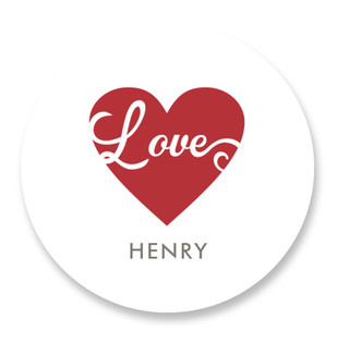 Scripted Love Custom Stickers