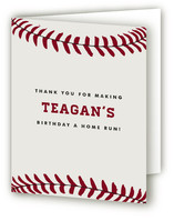 Baseball Game Pass Children's Birthday Party Thank You Cards