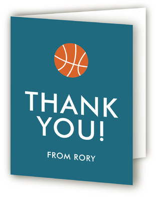Hoops Children's Birthday Party Thank You Cards