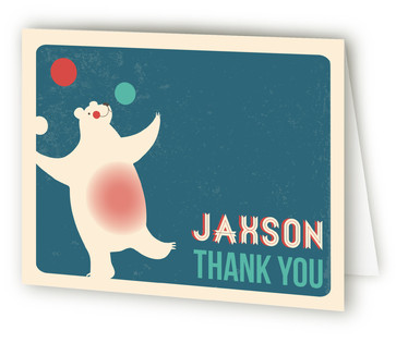 Circus Circus Children's Birthday Party Thank You Cards