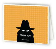 Secret Agent Children's Birthday Party Thank You Cards