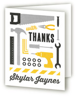 Tool Time Childrens Birthday Party Thank You Cards