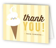 Ice Cream Parlor Children's Birthday Party Thank You Cards