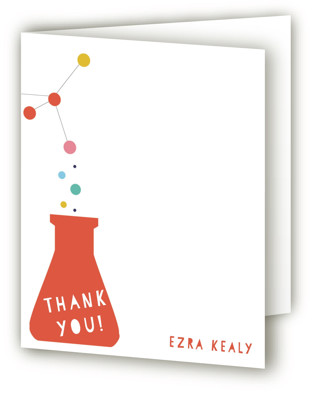 Mad Scientist Children's Birthday Party Thank You Cards