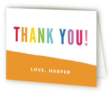 Art Party Children's Birthday Party Thank You Cards