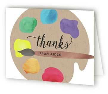 Arty Party Children's Birthday Party Thank You Cards