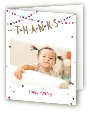 Festive Bunting Children's Birthday Party Thank You Cards