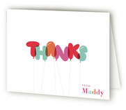Dont Pop The Balloons Childrens Birthday Party Thank You Cards