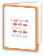 Cupcake Childrens Birthday Party Thank You Cards
