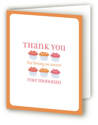 Cupcake Children's Birthday Party Thank You Cards