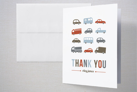 Beep Beep Childrens Birthday Party Thank You Cards