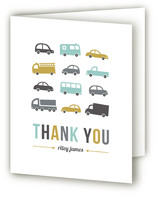 Beep Beep Children's Birthday Party Thank You Cards