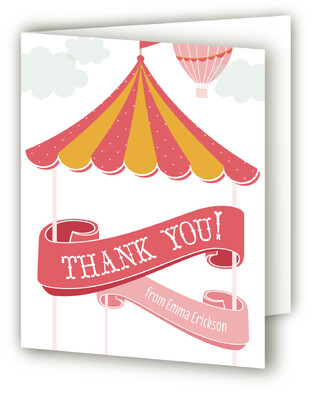 Circus Adventure Children's Birthday Party Thank You Cards