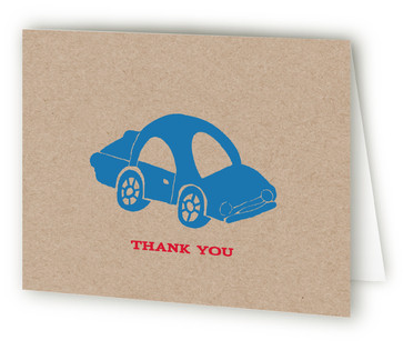 Cars Children's Birthday Party Thank You Cards