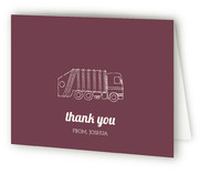 Vintage Gaga Over Garbage Trucks Childrens Birthday Party Thank You Cards