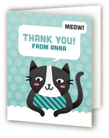 Cat's Meow Childrens Birthday Party Thank You Cards