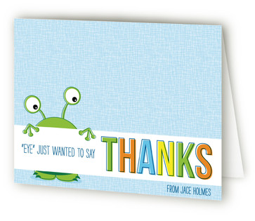 Monsters Allowed! Children's Birthday Party Thank You Cards
