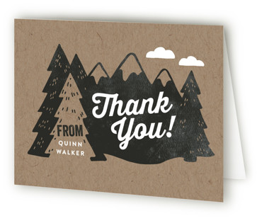Northwoods Children's Birthday Party Thank You Cards