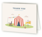 Off to Join the Circus Childrens Birthday Party Thank You Cards