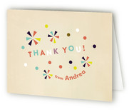 Festive Animals Childrens Birthday Party Thank You Cards