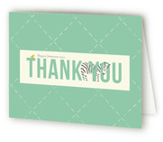 Zebra Party Childrens Birthday Party Thank You Cards