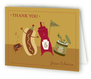 Hot Dog! Childrens Birthday Party Thank You Cards