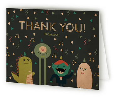 Monstrous Fun Monster Bash Children's Birthday Party Thank You Cards