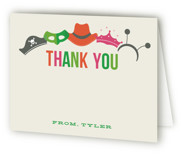 Costume Party Children's Birthday Party Thank You Cards
