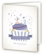 Cupcake Celebration Childrens Birthday Party Thank You Cards