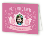 Crown Swirls Children's Birthday Party Thank You Cards