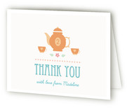 Garden Tea Children's Birthday Party Thank You Cards