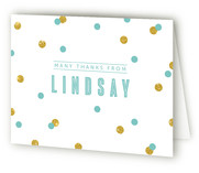 Confetti Childrens Birthday Party Thank You Cards
