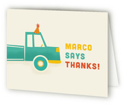 Party Trucks Childrens Birthday Party Thank You Cards