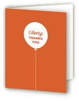 Stacked Balloon Childrens Birthday Party Thank You Cards
