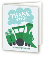 Terrific Train Children's Birthday Party Thank You Cards