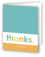 Colorful One Childrens Birthday Party Thank You Cards