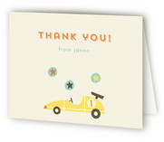 Vintage Toy Car Childrens Birthday Party Thank You Cards